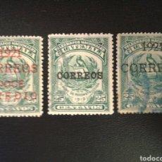 Sellos: GUATEMALA. YVERT 172/4. SERIE COMPLETA USADA. SOBRECARGADOS.. Lote 114065291