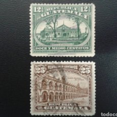 Sellos: GUATEMALA. YVERT 199/200. SERIE COMPLETA USADA.. Lote 117785238