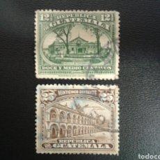 Francobolli: GUATEMALA. YVERT 199/200. SERIE COMPLETA USADA.. Lote 117785247