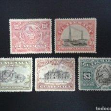 Sellos: GUATEMALA. YVERT 162/6. SERIE COMPLETA USADA.. Lote 117785578