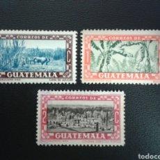 Francobolli: GUATEMALA. YVERT 359/61. SERIE COMPLETA USADA.. Lote 117963296