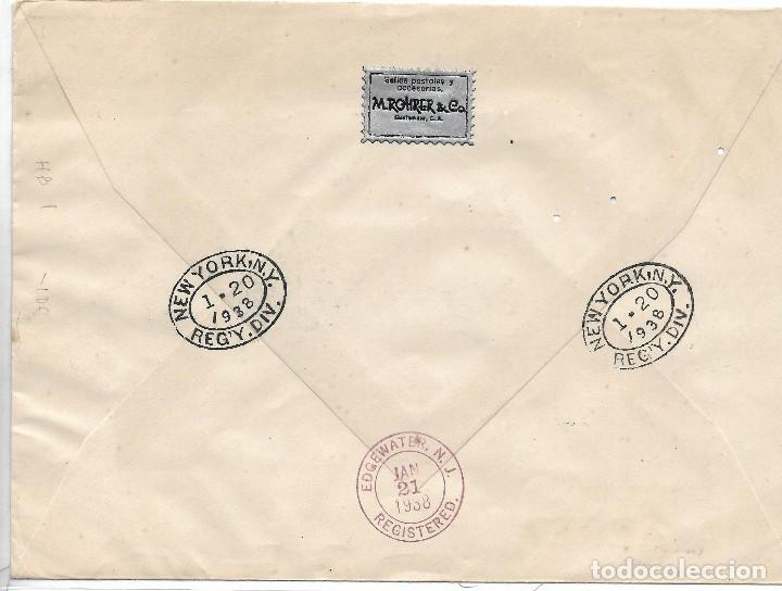 Sellos: Guatemala. Sobre circulado a Estados Unidos con sellos y Hoja Bloque de Guatemala - Foto 2 - 121139919