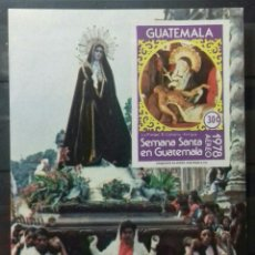 Sellos: HOJA BLOQUE DE GUATEMALA SEMANA SANTA 1978. Lote 121297891