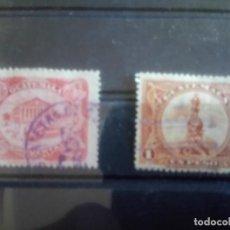 Sellos: GUATEMALA, 1902, UPU, TEATRO COLÓN Y ESTATUA DEL DESCUBRUDOR. Lote 135305642
