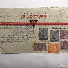 Sellos: SOBRE FRANQUEADO. GUATEMALA. LIBRERÍA LA LECTURA (A.1947). Lote 143676702