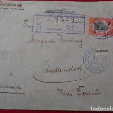 Sellos: GUATEMALA. CARTA DIRIGIDA A ALEMANIA. 1920. TRES SELLOS DE 2 PESOS Y 75 CENTIMOS. . Lote 146344634