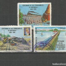 Selos: GUATEMALA YVERT NUM. 762/764 SERIE COMPLETA USADA. Lote 152270690