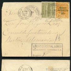Sellos: GUATEMALA, SOBRE, SERVICIO POSTAL AÉREO, QUEZALTENANGO A ALEMANIA, 1934 . Lote 152843166