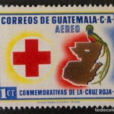 Sellos: SELLO NUEVO DE GUATEMALA 1 CT- CRUZ ROJA. Lote 156034540