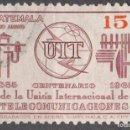 Sellos: GUATEMALA - UN SELLO - EDIFIL #PA432 -***CENTENARIO U.I.T.***- AÑO 1968 - USADOS. Lote 159016358