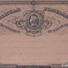 Sellos: GUATEMALA.- ENTERO POSTAL DE 1/4 DE REAL. Lote 159534922