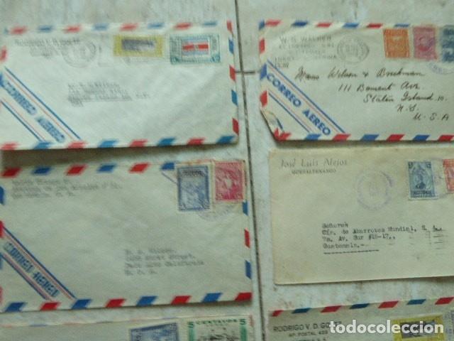Sellos: LOTE DE 28 SOBRES CIRCULADOS. GUATEMALA - USA. AÑOS 40. LOS DE LA FOTO. COVER FLIGHT - Foto 3 - 174089283