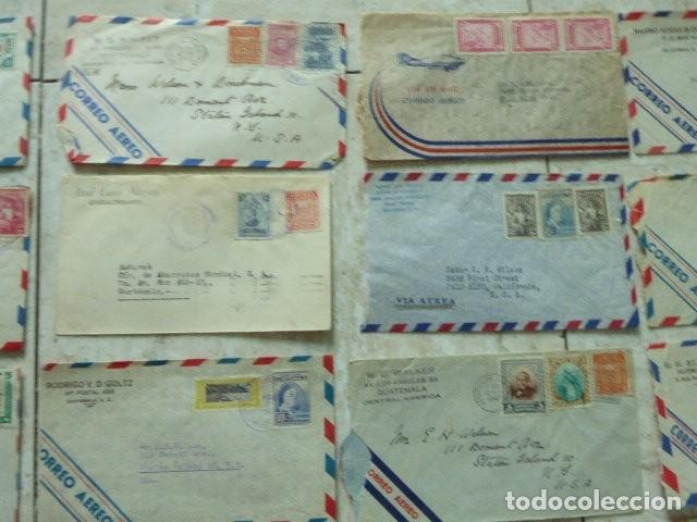 Sellos: LOTE DE 28 SOBRES CIRCULADOS. GUATEMALA - USA. AÑOS 40. LOS DE LA FOTO. COVER FLIGHT - Foto 4 - 174089283