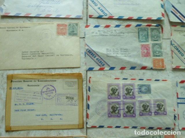 Sellos: LOTE DE 28 SOBRES CIRCULADOS. GUATEMALA - USA. AÑOS 40. LOS DE LA FOTO. COVER FLIGHT - Foto 6 - 174089283