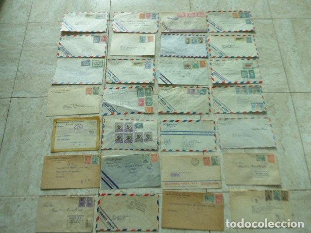 LOTE DE 28 SOBRES CIRCULADOS. GUATEMALA - USA. AÑOS 40. LOS DE LA FOTO. COVER FLIGHT (Sellos - Extranjero - América - Guatemala)