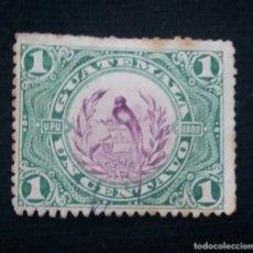 Sellos: AEREO GUATEMALA, 1 CENTS, U.P.U.1902. SIN USAR. Lote 180269103