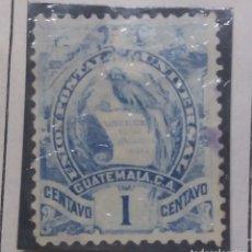 Sellos: GUATEMALA, 1 CENTS,.1886. SIN USAR. Lote 180269687