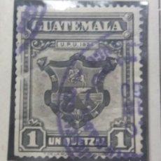 Sellos: GUATEMALA, 1 CENTS DE QUETZAL, U.P.U.1926. SIN USAR. Lote 180270416