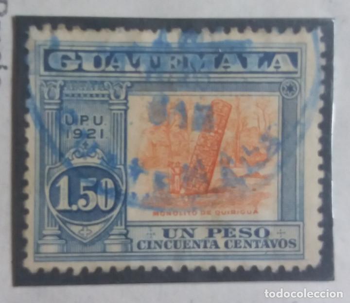 GUATEMALA, 1,50 PESOS, MONILITO QUIRIGUA,1921. SIN USAR (Sellos - Extranjero - América - Guatemala)