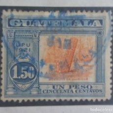 Sellos: GUATEMALA, 1,50 PESOS, MONILITO QUIRIGUA,1921. SIN USAR. Lote 180270725