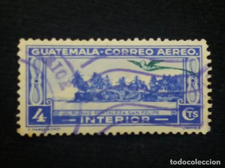 AEREO GUATEMALA, 4 CENTS,RUINAS SAN FELIPE,1960. SIN USAR, (Sellos - Extranjero - América - Guatemala)