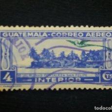 Sellos: AEREO GUATEMALA, 4 CENTS,RUINAS SAN FELIPE,1960. SIN USAR,. Lote 180272100