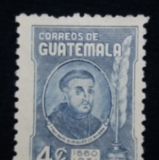 Sellos: GUATEMALA, 4 CENTS, FRAY, 1660-1951. SIN USAR,. Lote 180272555