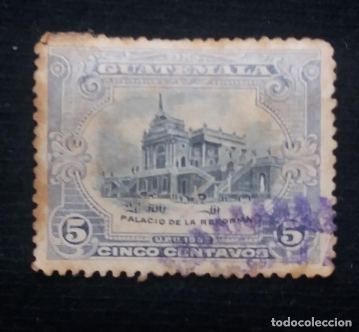 GUATEMALA, 5 CENTS, PALACIO DE LA REFORMA, 1875. (Sellos - Extranjero - América - Guatemala)