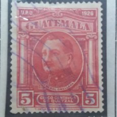 Sellos: GUATEMALA, 5 CENTS DE QUETZAL, GENERAL ORELLANA, 1929. SIN USAR. Lote 180273481