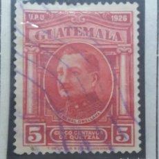 Sellos: GUATEMALA, 5 CENTS DE QUETZAL, GENERAL ORELLANA, 1929. SIN USAR. Lote 180273602