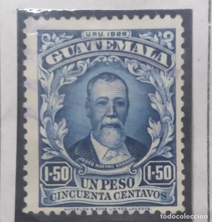 GUATEMALA, 1,50 PESOS, JUSTO RUFINO, 1926. (Sellos - Extranjero - América - Guatemala)
