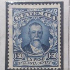 Sellos: GUATEMALA, 1,50 PESOS, JUSTO RUFINO, 1926. . Lote 180405481