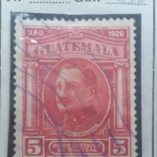Sellos: GUATEMALA, 5 CENTAVOS DE QUETZAL, G, ORELLANA, 1929. SIN USAR. Lote 180406597