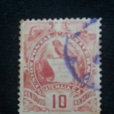 Sellos: GUATEMALA, 10 CENTAVOS, INDEPENDENCIA.1890. SIN USAR. Lote 180407990