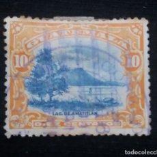 Sellos: GUATEMALA, 10 CENTAVOS, LAGO DE AMATITLAN.1902. SIN USAR. Lote 180408222