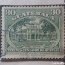 Sellos: GUATEMALA, 30 CENTAVOS, DE QUETZAL,1926. . Lote 180411385