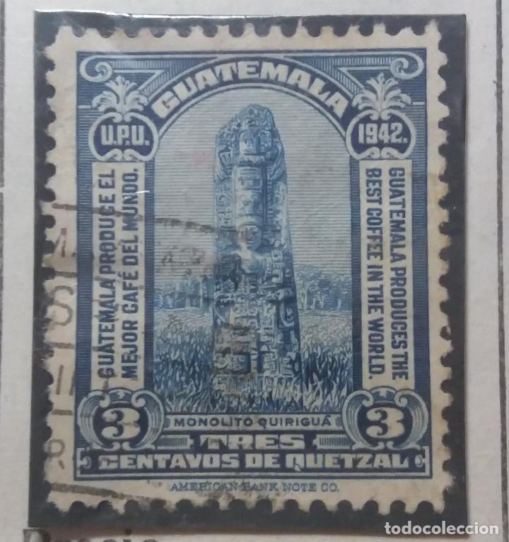 GUATEMALA, 3 CENTAVOS DE QUETZAL, QUIRIGUA, 1931 . SIN USAR (Sellos - Extranjero - América - Guatemala)