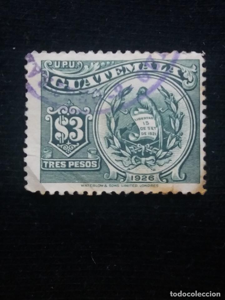 GUATEMALA, 3 PESOS, U.P.U. LIBERTAD, 1826. SIN USAR (Sellos - Extranjero - América - Guatemala)