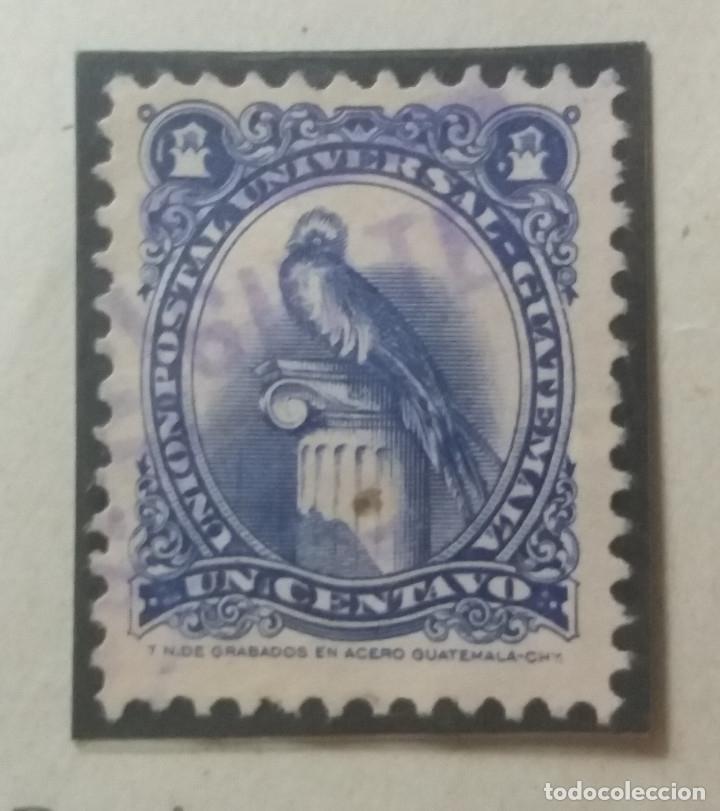 GUATEMALA, 1 CENTAVO, GUACAMAYO, 1860. SIN USAR (Sellos - Extranjero - América - Guatemala)