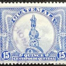 Sellos: 1929. GUATEMALA. 238. MONUMENTO A CRISTÓBAL COLÓN. USADO.. Lote 182576721