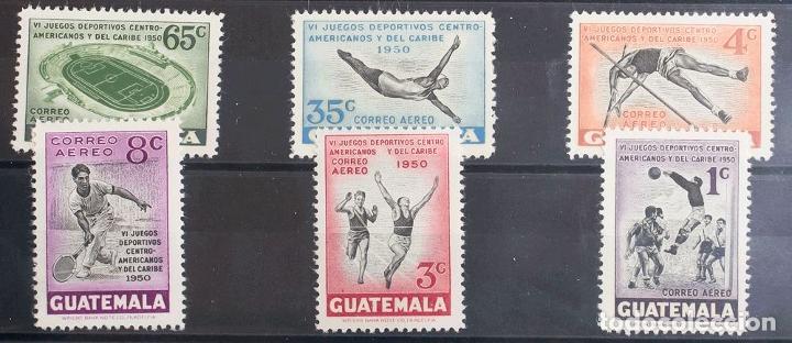 GUATEMALA, AÉREO. MH *YV 173/78. 1950. SERIE COMPLETA. MAGNIFICA. YVERT 2013: 55 EUROS. REF: 43032 (Sellos - Extranjero - América - Guatemala)