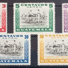 Sellos: GUATEMALA, AÉREO. MH *YV 160/64. 1948. SERIE COMPLETA. MAGNIFICA. YVERT 2013: 50 EUROS. REF: 43036. Lote 183124272