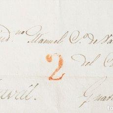 Sellos: GUATEMALA, PREFILATELIA. SOBRE YV . 1835. IZABAL A GUATEMALA. MARCA YZAVAL (IGUAL QUE LA CATALOGADA. Lote 183144946