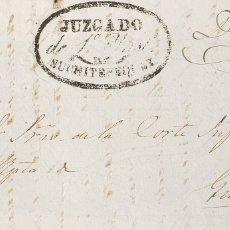 Sellos: GUATEMALA, PREFILATELIA. SOBRE YV . (1820CA). FRENTE DE PLICA JUDICIAL DE MAZATENANGO A GUATEMALA.. Lote 183145046