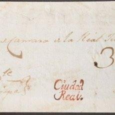 Sellos: GUATEMALA, COLONIAL. SOBRE YV . (1803CA). FRENTE DE PLICA JUDICIAL DE CIUDAD REAL A GUATEMALA. MARC. Lote 183145740