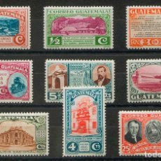 Sellos: GUATEMALA. MH *YV 264/72. 1935. SERIE COMPLETA. MAGNIFICA. YVERT 2017: 52 EUROS. REF: 93360. Lote 183165201