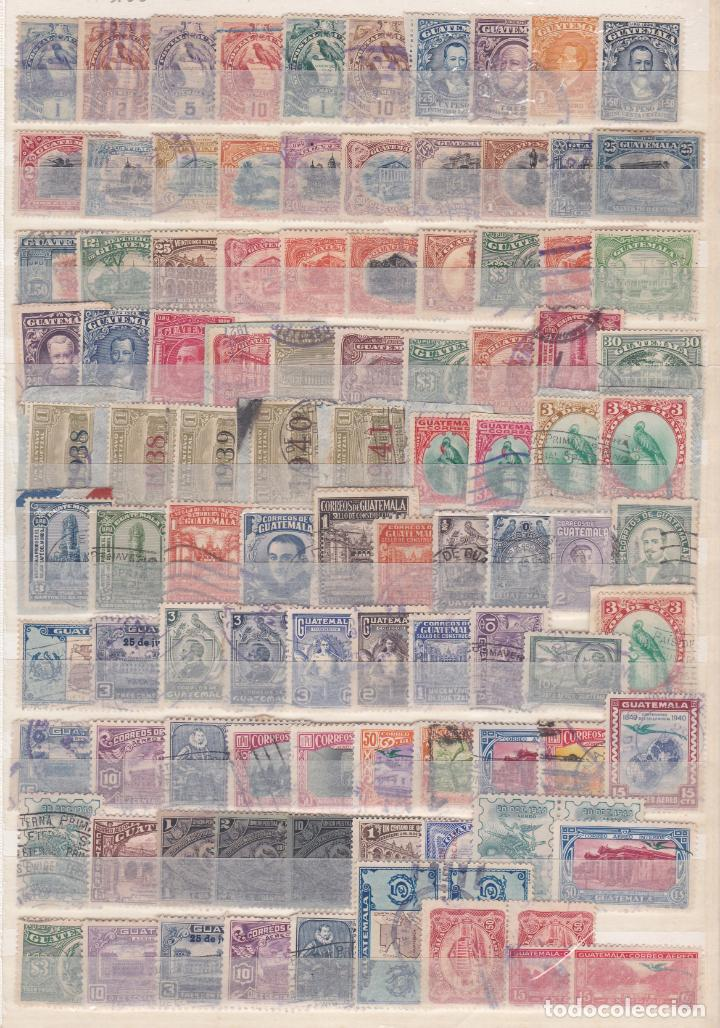 GUATEMALA.- LOTE DE 100 SELLOS ANTIGUOS MATASELLADOS. (Sellos - Extranjero - América - Guatemala)