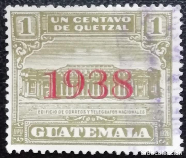 1938. GUATEMALA. 298-B. NUEVA CENTRAL CORREOS. SELLO 1927 CON SOBREIMPRESIÓN. SERIE COMPLETA. USADO. (Sellos - Extranjero - América - Guatemala)