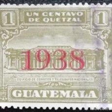 Sellos: 1938. GUATEMALA. 298-B. NUEVA CENTRAL CORREOS. SELLO 1927 CON SOBREIMPRESIÓN. SERIE COMPLETA. USADO.. Lote 189430866