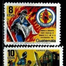 Selos: GUATEMALA SCOTT: C805/806-(1986) (CORREO AEREO) (HOMENAJE A LOS BOMBEROS VOLUNTARIOS) USADO. Lote 189707157